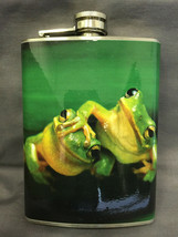 Frog Reptile D 1 Flask 8oz Stainless Steel Drinking Whiskey Clearance item - $9.90