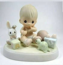 "Precious Moments Heaven Bless You 1989 Samuel Butcher 520934 3.5"" tall - $9.89"