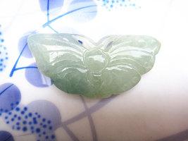 Free Shipping - Lovely Handmade Green jadeite jade Natural Green Butterfly jade  - $27.00