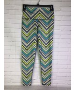 Aerie Move Womens Small Hi-Rise 7-8 Leggings Activewear Striped Green Bl... - $24.74