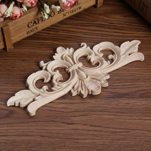 20*10CM Wood Carving Decal Corner Applique Frame Door Decorate Wall Door... - $14.00