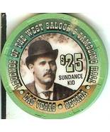 LEGENDS OF THE WEST SALOON CASINO CHIP $25.00 SUNDANCE KID LAS VEGAS NV - $14.99