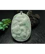 Free shipping - hand carved Natural  Dragon Phoenix white Jadeite Jade charm Pen - $20.00