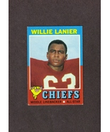 1971 Topps # 114 Willie Lanier RC Kansas City Chiefs - $2.99