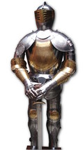 Halloween Medieval European Knight Suit Of Armor Wearable Costume 18 Gauge - $763.60