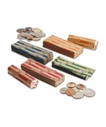 Coin Wrappers - 500 Mix & Match -or- 125 each of: Penny, Nickel, Dime, Q... - £7.72 GBP