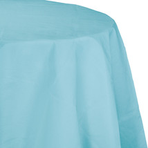 82 inch Octy Round Tissue/Poly Tablecover Pastel Blue/Case of 12 - $50.00
