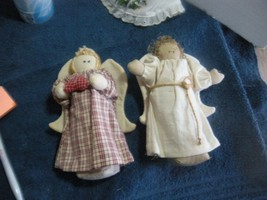 Christmas country dolls 2 pc lot Angels  7 inch - $7.00