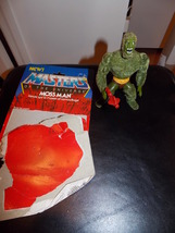 Vintage 1984 Masters Of The Universe Moss Man Figure With Gun and Cardback - $21.99