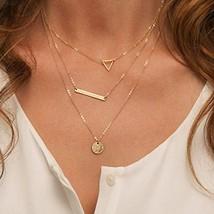 Fstrend Fashion Layered Necklace Dainty Symbol Pendant Choker Necklace J... - $8.99