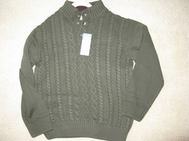 Gymboree Boys Cable knit sweater L 10-12 Loden green NWT $32 - $16.79