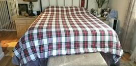 Williams Sonoma Home TARTAN STEWART Woven FULL QUEEN Duvet Cover Plaid N... - $129.99