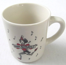 Happy Birthday Jester Musical Signs Paraglazed Porcelain Coffee Mug - $14.99