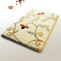 Naomi [Beige Vine] Luxury Home Rugs (19.7 by 31.5 inches) - $27.99