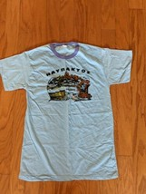 Vtg 1980's ΝΑΥΠΑΚΤΟΣ Greece Men's Size 18 Small Blue Cotton Ringer T-Shi... - $37.39