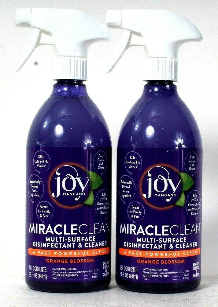 Primary image for 2 Joy Mangano 28 Oz Miracle Clean Orange Blossom Multi Surface Cleaner Spray