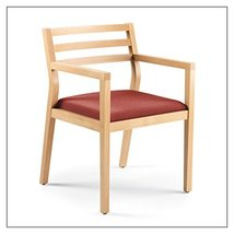 Steelcase Sawyer Wood Guest Chair by Steelcase, fabric = Tomato; finish = Clear  - $403.00