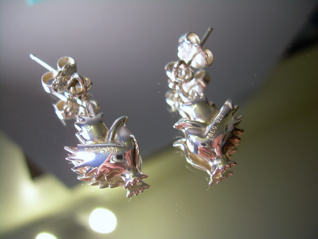 925 Silver Bird Pierced Earrings EUC *FREE SHIP*