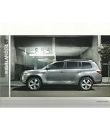 2009 Toyota HIGHLANDER brochure catalog 2nd Edition 09 US HYBRID - $8.00