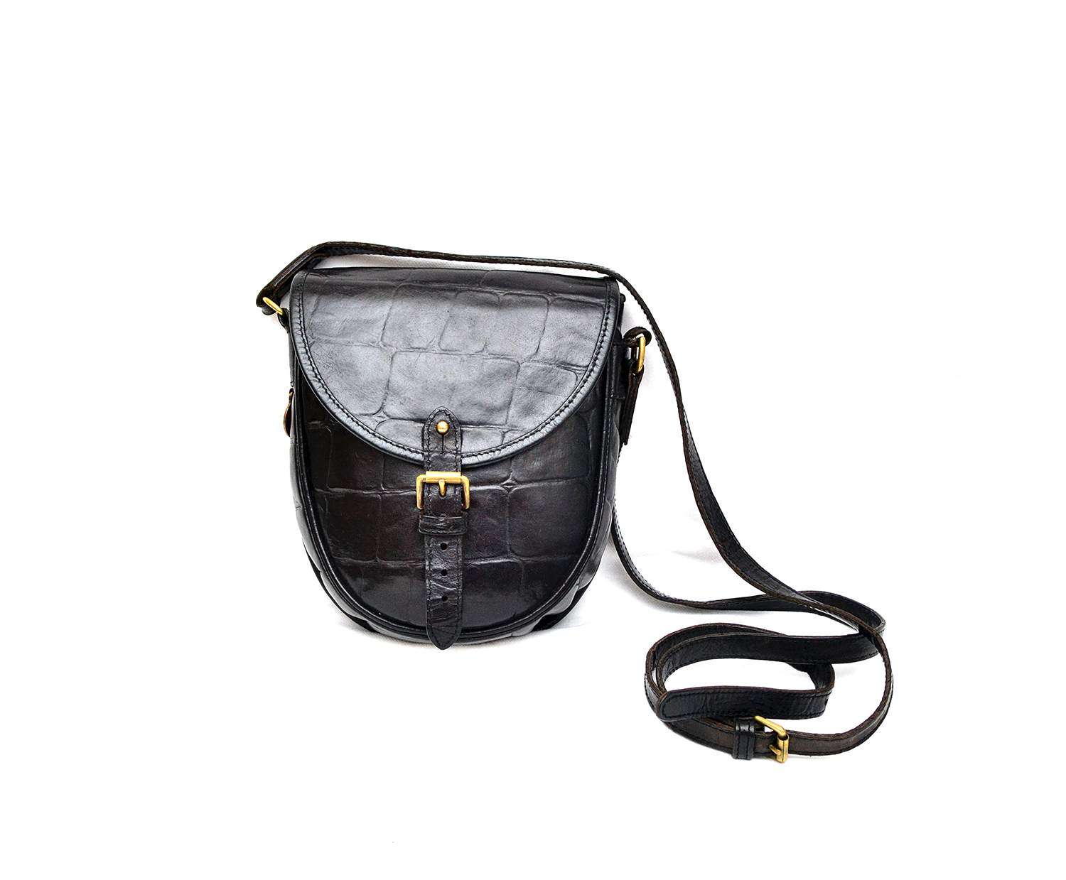 6fef474d1d22 ... where to buy auth mulberry vintage congo leather croc pattern cross  body shoulder bag 62913 c8764