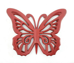 4.25 X 18.5 X 23.25 Red Rustic Butterfly Wooden Wall Decor - $93.33
