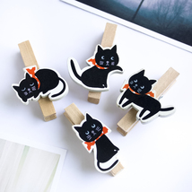 [Cute Cat] - Wooden Clips / Wooden Clamps / Min... - $12.99