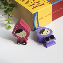 [Pretty Doll] - Card Holder / Wooden Clips / Wo... - $12.99