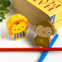 [Lion & Monkey] - Card Holder / Wooden Clips / ... - $12.99