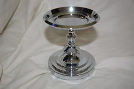 "PartyLite Falmouth CandleHolder 4""- CHROME - Party Lite - $24.99"