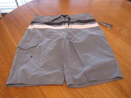 Boys Youth Epic Threads board shorts L LG stellar blue NEW stripe casual... - $6.94