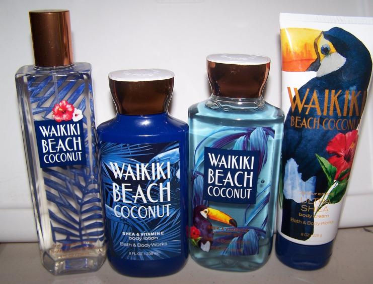 4 Pc Bath Body Works Waikiki Beach Coconut And 50 Similar