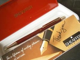 SHEAFFER SAILOR PENNA SFERA ACCIAIO ROSSO +SCATOLA +GARANZIA Ball Pen +B... - $28.01