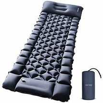 Camping Air Sleeping Pad Mat - Foot Press Inflatable Lightweight Backpac... - $67.77+