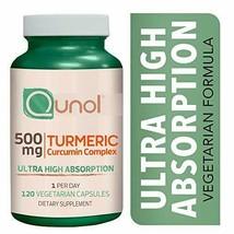 Turmeric Curcumin 500mg Vegetarian Capsules, Qunol Ultra High Absorption... - $44.11