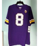 NFL Team Apparel Minnesota Vikings Mens Jersey L Purple #8 Bradford - Nwt - $21.85