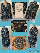 NEW! Lane Bryant Blouse Size 14/16 100% Polyester Print Button Front Ret... - $11.68