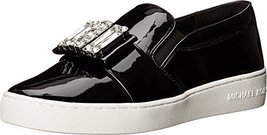 MICHAEL Michael Kors Women's Michelle Slip On Sneakers, Black, 5 B(M) US