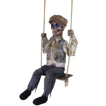 Swinging Skeletal Boy Animated Prop HALLOWEEN Zombie See VIDEO - €123,77 EUR
