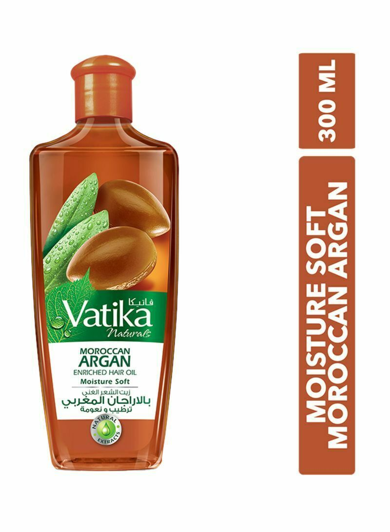 Primary image for Dabur Vatika 300ml Naturals Argan Moroccan Enriched Hair Oil USA SELER FAST SHIP