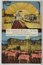 MINN The Covered Wagon, Food and Liquor Interior View  St Paul Postcard Q12 - $9.95