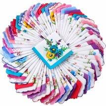 Ladies Hankies Women Floral Handkerchiefs Vintage Cotton Handkerchiefs (... - $62.59