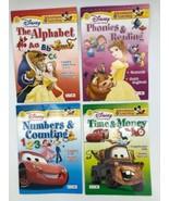 4 Disney Children Educational WORKBOOK Grade Math Phonics Reading Time M... - $11.11