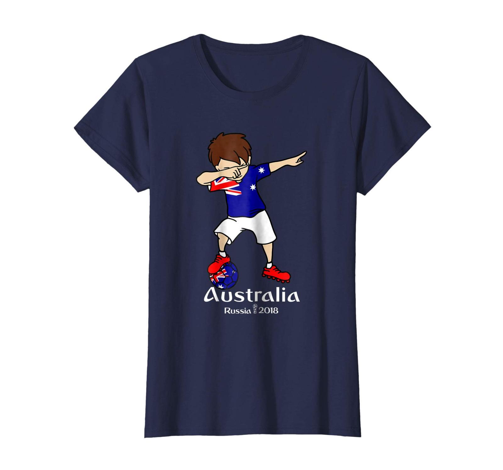 New Shirts - Funny Dabbing Soccer Boy Australia T Shirt - Football Gift Wowen image 4