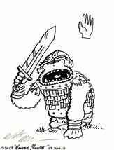Uruk Ape of the White Hand. Original Signed Cartoon by Walter Moore - $9.54