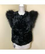 Neiman Marcus Skaist Faux Fur Vest Sleeveless Jacket Womens Size Med Veg... - $29.69