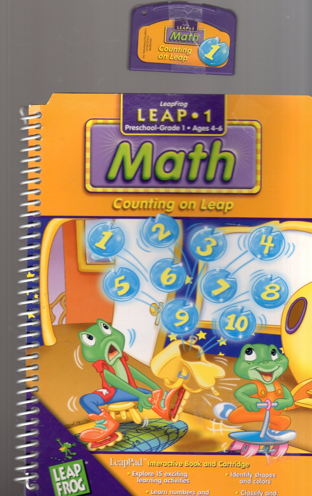 "LeapFrog Leap 1 - MATH  ""COUNTING ON LEAP"" - Preschool , Grade 1 Ages 4 - 6"