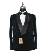 Special Gift For Him Green Smoking Jackets Designer Party Wear Wedding B... - $159.99