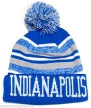 Indianapolis Colts Blue   White Classic POM Ball Knit Hat Cap Winter Ski  Beanie -  9.99 9f5c2eb99