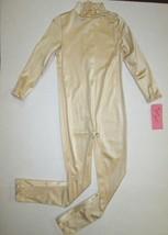 NEW Girl Unitard Size 4-6 XS Nude Gold Costume Leotard Bodysuit Turtlene... - $16.95