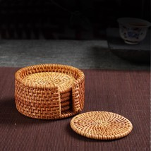 Vintage Bamboo Handmade Rattan Cup Coasters Set Pot Pad Table Mat Home Decor  - $27.96+